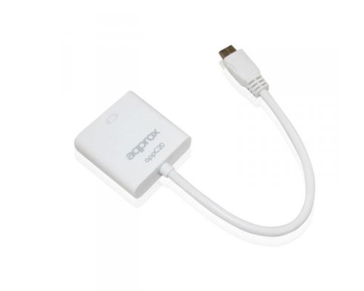 ADAPTADOR MINI HDMI A VGA APPROX