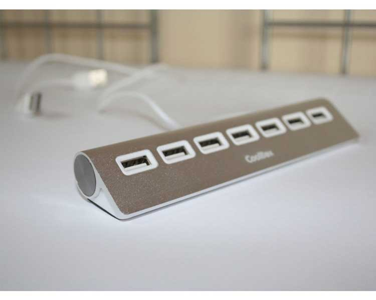HUB 7 PUERTOS USB2.0 ALU-2 ALUMINIO COOLBOX