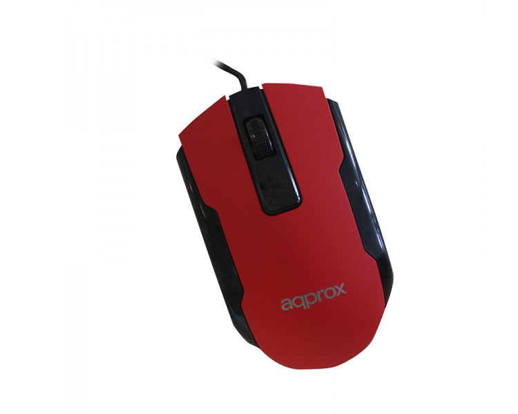 MOUSE OPTICO OFFICE RED APPROX