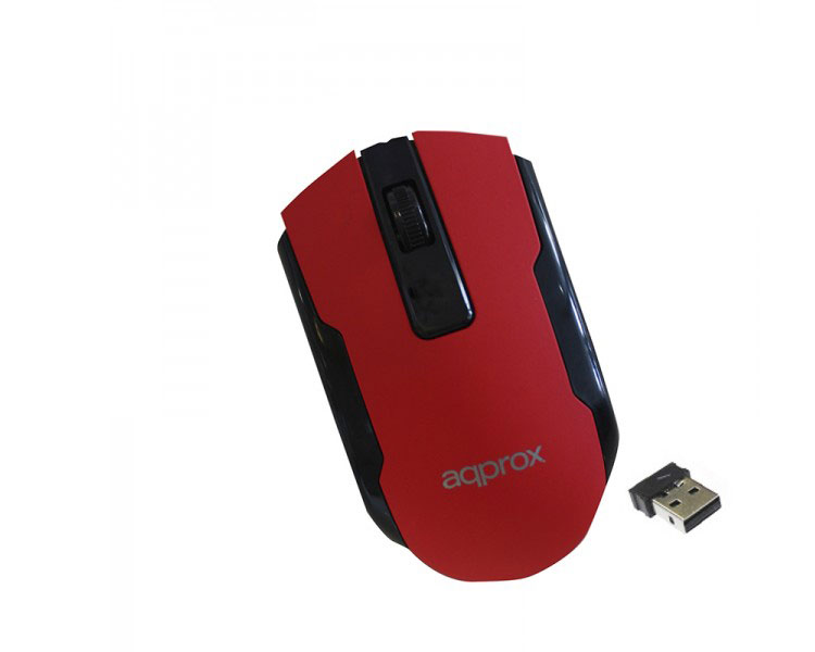 MOUSE OPTICO WIRELESS OFFICE RED APPROX