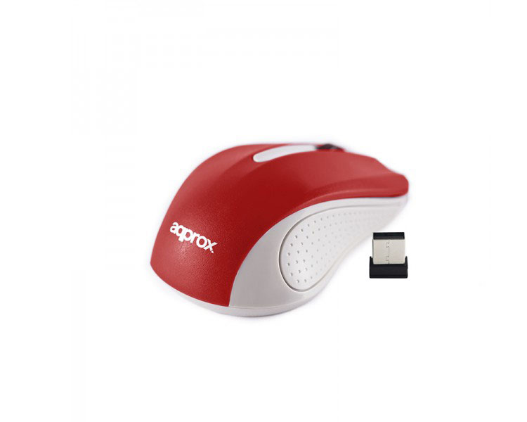 MOUSE OPTICO WIRELESS LITE GREY/RED APPROX
