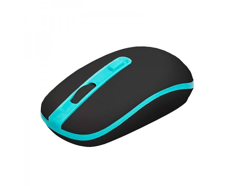 MOUSE OPTICAL VERSATILE WIRELESS BLACK/LIGHT BLUE APPROX