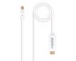 CONVERSOR MINI DISPLAYPORT A HDMI 5 M WHITE NANOCABLE