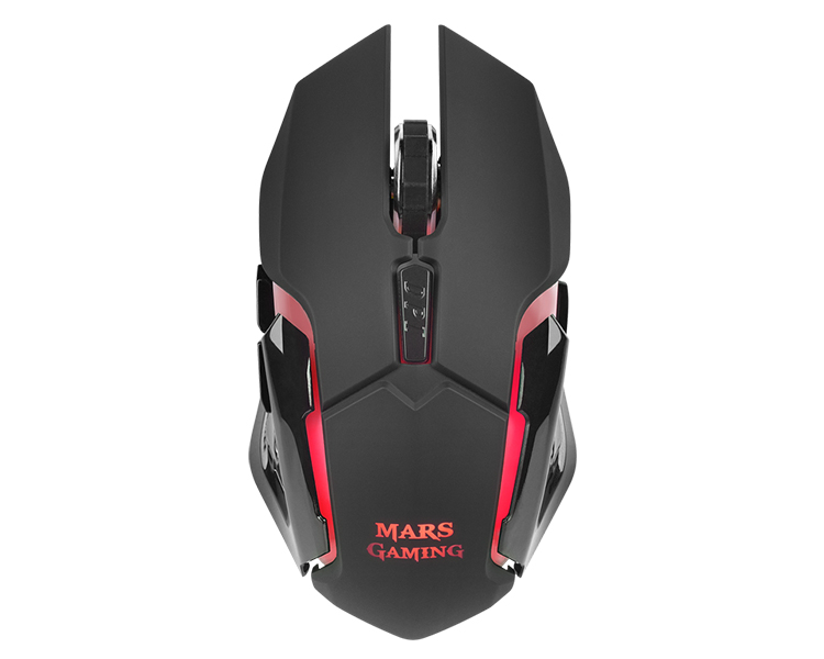 RATON OPTICO WIRELESS MMW BLACK MARS GAMING