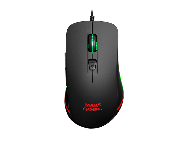 RATON OPTICO MARS GAMING MM118 RGB BLACK