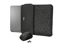 "FUNDA REVERSIBLE YVO 15.6"" + RATON WIRELESS BLACK TRUST"