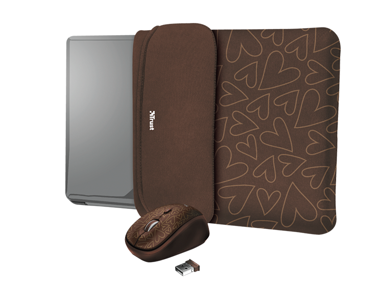 "FUNDA REVERSIBLE YVO 15.6"" + RATON WIRELESS BROWN TRUST"