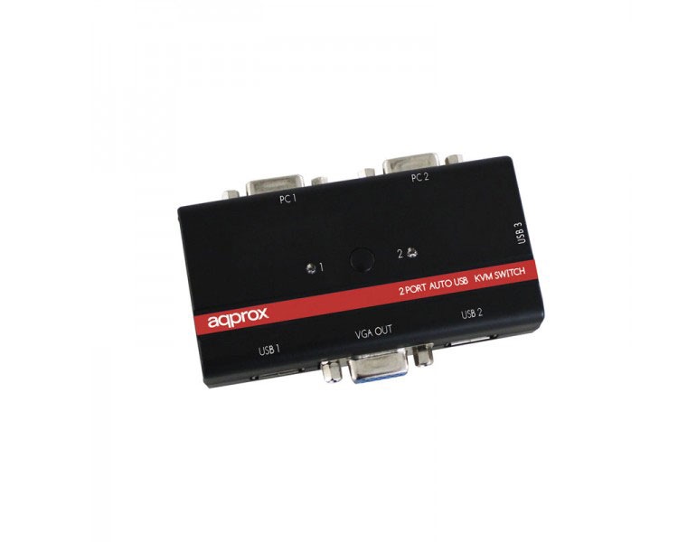 SWITCH KVM 2 PORT USB + CABLES APPROX