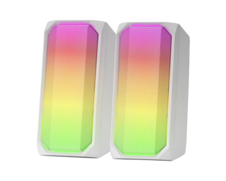 ALTAVOZ BLUETOOTH RGB MSRGB WHITE MARS GAMING