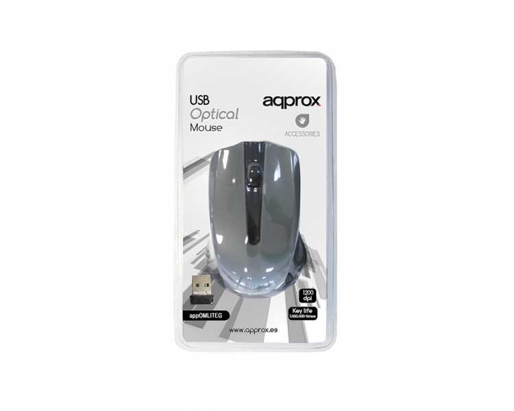 MOUSE OPTICO WIRELESS LITE GREY APPROX