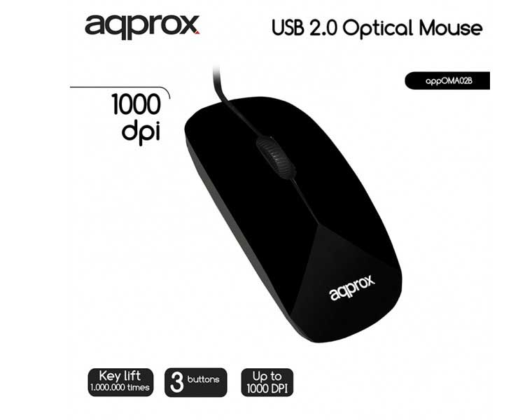 MOUSE OPTICO BLACK APPROX