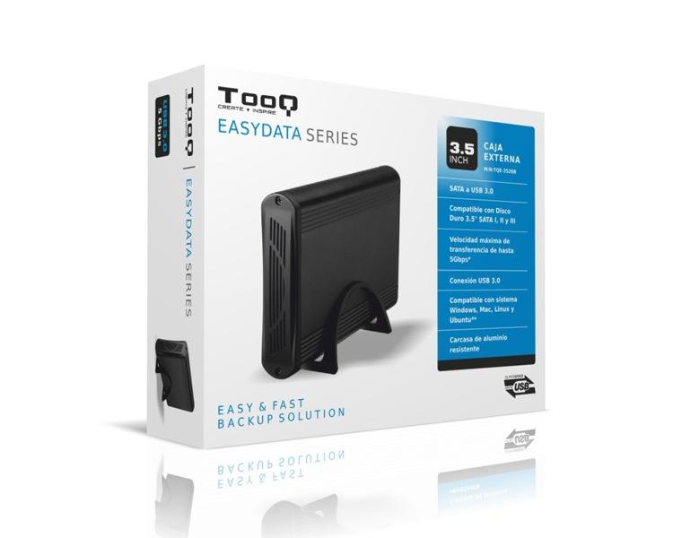 CAJA EXTERNA USB 3.5'' SATA USB 3.0 BLACK TOOQ