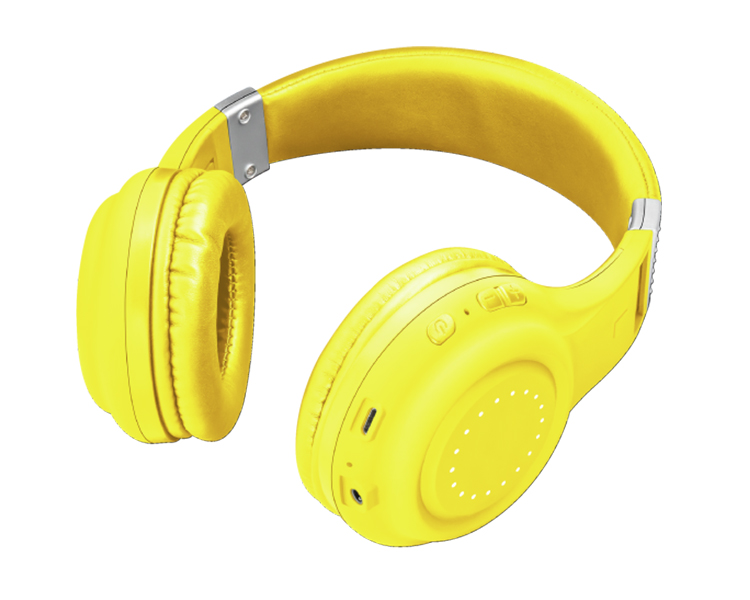 AURICULARES BLUETOOTH DURA YELLOW TRUST