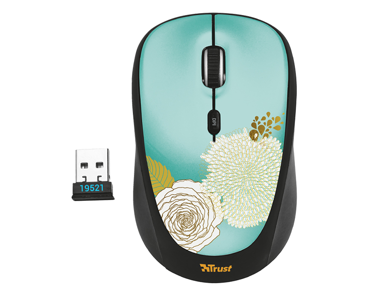 RATON OPTICO YVI WIRELESS FLOWER TRUST