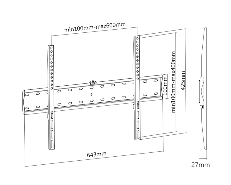 "SOPORTE LCD-TV 37""-70"" LP4170F TOOQ"