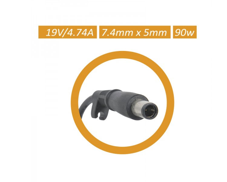 AC ADAPTER PARA HP NOTEBOOK 90W 7.4x5mm APPROX