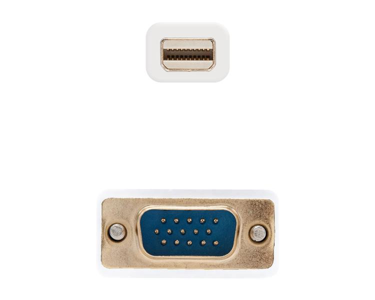 CONVERSOR MINI DISPLAYPORT A VGA 5 M WHITE NANOCABLE