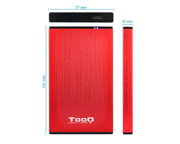 CAJA EXTERNA USB 2.5'' SATA 3.0 RED TOOQ