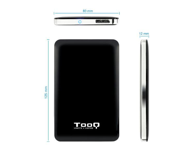 CAJA EXTERNA SLIM USB 2.5'' SATA 3.0 BLACK TOOQ