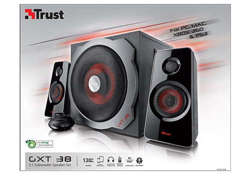 ALTAVOCES GXT38 2.1 PC/PS3/XBOX BLACK TRUST