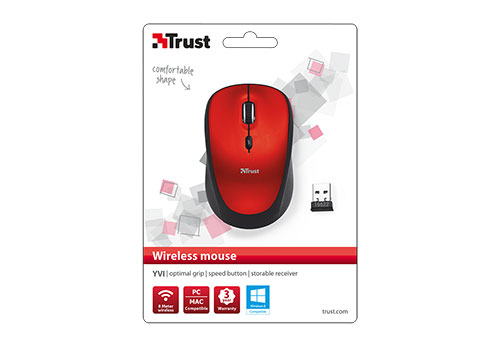 RATON OPTICO WIRELESS YVI RED TRUST