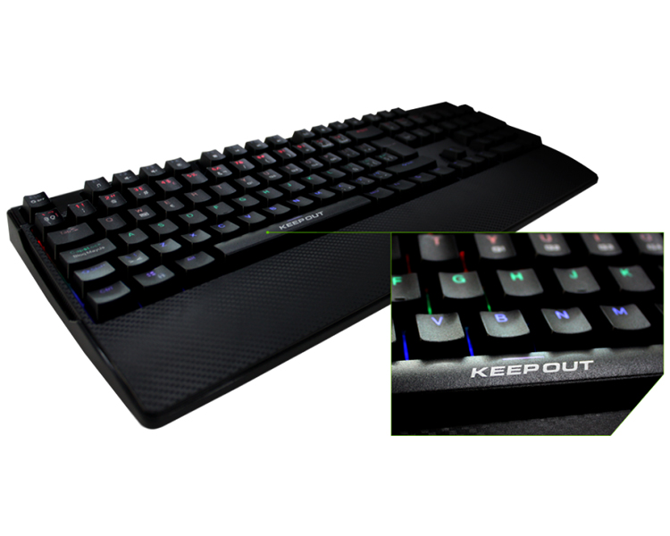 KEEPOUT GAMING RGB MECHANICAL KEYBOARD F115