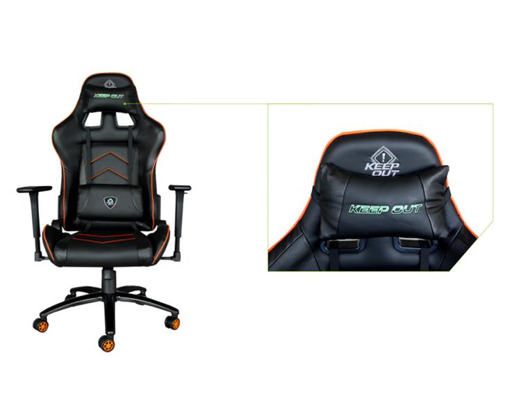 SILLA GAMING KEEPOUT XS400 PRO BLACK/ORANGE