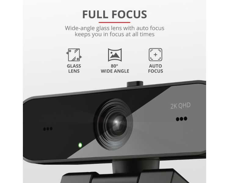 WEBCAM QHD VIDEO 2K TW-250 BLACK TRUST